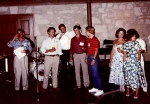 1986: Rick Cavender, Danny Pfieffer, Stan Shaw, John Parsons, Anthony Christian, and other guests